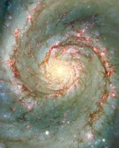 The Whirlpool Galaxy in Dust and Stars Image Credit: N. Scoville (Caltech), T. Rector (U. Alaska, NOAO) et al., Hubble Heritage Team, NASA Explanation: The Whirlpool Galaxy is a classic spiral. Hubble Space Telescope, Telescope Images, Nasa Space, Whirlpool Galaxy, Carl Sagan Cosmos, Spirals In Nature, Wow Photo, Hubble Images, Hubble Pictures