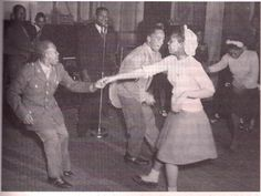 Soldiers at a dance, circa WWII, Minneapolis YMCA  Found in African Americans and the Media by Catherine Squires