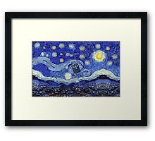 'A Starry Night Van Gogh Mountain Inspiration With Tardis' by Angelinas Doctor Who Tardis, Van Gogh, Framed Prints, Tapestry, Artwork, Inspiration, Night, Products, Hanging Tapestry