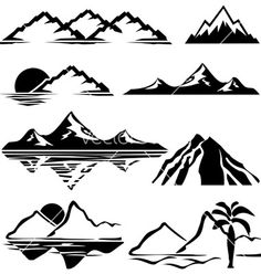 Mountains vector 100265 - by print2d on VectorStock®