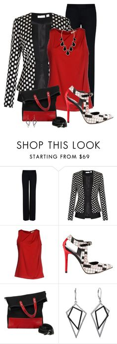 A fashion look from July 2015 featuring shirt top, shoulder pad jacket and zip pants. Browse and shop related looks. Fashion Line, Work Fashion, I Love Fashion, Fashion Outfits, Womens Fashion, Pretty Outfits, Cute Outfits, Business Casual Outfits, Work Wardrobe