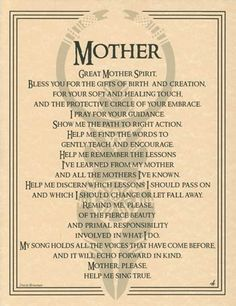 Great Mother Spirit Evocation Parchment Page Pagan Wicca Witch Tarot, Simple Poster, Under Your Spell, Pagan Witch, Witches, Wiccan Spells, Wicca Runes, Healing Spells, Spirit Guides