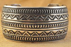 Handmade cuff bracelet, by Navajo artist Andy Cadman.