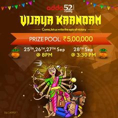 Rummy tournaments for Dussehra is a novel and never heard before idea.
