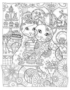antistress coloring, zentangle designs, zentangle coloring pages, mandala coloring, cats Adult Coloring Pages, Coloring Pages For Grown Ups, Cat Coloring Page, Mandala Coloring Pages, Animal Coloring Pages, Colouring Pages, Printable Coloring Pages, Coloring Sheets, Coloring Books