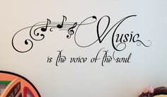 Music Voice of Soul Wall Decal Music Voice of Soul Wall Decal Music Voice of Soul Wall Decal ,Music is LIFE quotes music quotes Music lyrics quotations, music quote. Music Quote Tattoos, Music Quotes, Music Lyrics, Sound Of Music, Music Is Life, My Music, Soul Music, Music Stuff, Really Good Quotes