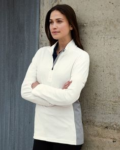 DRI DUCK 9346 - Pulse Women's Nano Fleece is 4.5 oz.,and made of 100% polyester. Ant-static finish and anti-pill exterior make it comfort fit. There is security pocket on right hip and dews piecing on princess seams. #womensfashion #womensfleece #fallfashion