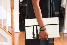 DIY Leather Tassel Clutch – Beaute' J'adore