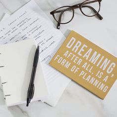 Always dreaming (and planning). Thanks to the #dreamjobchallenge for making it a bit easier. @thedreamjobshop  #planning #dreaming #dreamjob #happiness #motivation #monday #bliss #warbyparker #business