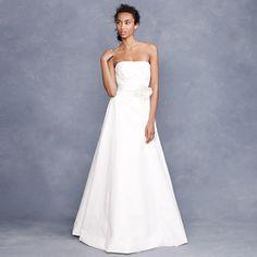 Miranda flower gown JCrew simplistic beauty