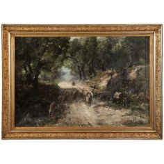 Art | Antique Paintings | Antique Framed Oil Painting on Canvas by Karpathy | www.inessa.com