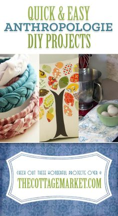 Quick & Easy Anthropologie DIY Projects - The Cottage Market