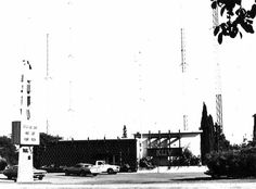 The studios and transmitter of our local Top 40 radio station in San Jose, KLIV, circa 1976 ... much as I remember it. More a fond memory of my teen years, during which I had inherited the usual duty of keeping the three main Bay Area Top 40 AMs locked into their presets on the car radio from my older brother, I also recall the location as an East Side landmark, seen quite often in earlier years when my family lived in the neighborhood.