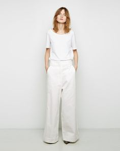 MAISON MARGIELA LINE 1 | Wide Leg Tuxedo Pant | Shop at La Garçonne