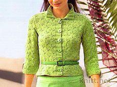 Приталенный жакет на пуговицах | knitt.net | Все о вязании Crochet Cardigan, Knit Crochet, Mantel, Knitwear, Knitting Patterns, Blazer, Vest, Sweaters, Cardigans