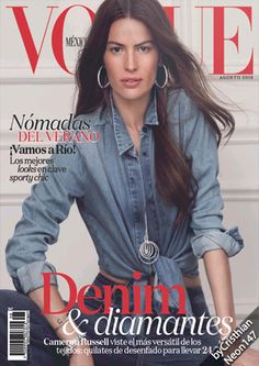 Cameron Russell wears denim for Vogue Mexico August 2016 Vogue Uk, Vogue Russia, Vogue Paris, Cameron Russell, Vogue Magazine Covers, Vogue Covers, Sporty Chic, Catherine Mcneil, Vogue Mexico