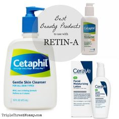 Best Beauty Products to use with Retin-A | Triple Threat Mommy