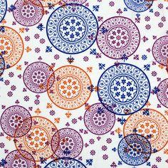 Mandala Cotton Jersey Knit Fabric