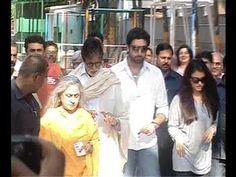 Amitabh Bachchan, Abhishek Bachchan, Aishwarya Rai cast their votes for Lok Sabha Elections.