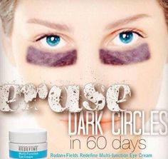 Rodan + Fields Multi-Function Eye Cream utilizes powerfule peptides to minimize the look of crows feet and reduce the appearance of dark circles.  Message me on pinterest @ R+Fskincare101 for more info.