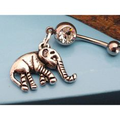 Elephant Belly Button Rings Navel Jewlery ($13) ❤ liked on Polyvore