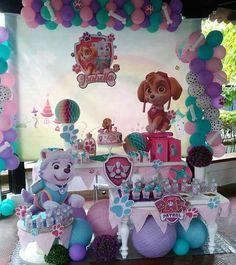 Fiesta temática de Paw Patrol para niña