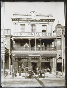 *🇦🇺 Centennial Hotel (Scott St, Newcastle, NSW, Australia, from Culture Collections 🎞 Newcastle Town, Hunter Street, Melbourne Victoria, Australia Day, Hotel Stay, Historical Pictures, Old Photos, Building, Places