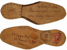 Leather Sole Shaped Postcard, 1905.  From the collection of Angelica Paez.