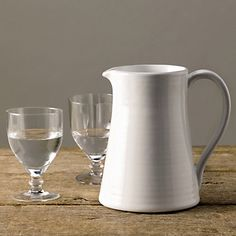 Buy Home Accessories > Tableware > Stoneware Jug from The White Company