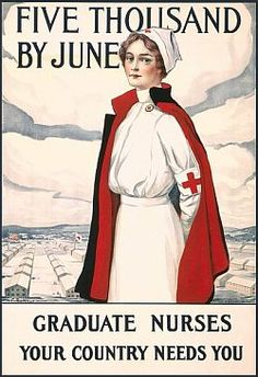 Red Cross recruiting poster / 1917