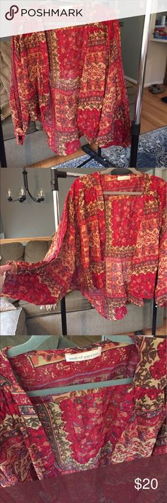 Boho Kimono Great condition! 🚫No trades! ✨15% off of bundles! Band of Gypsies Tops