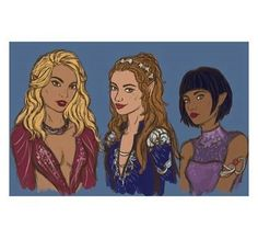 Mor, Feyre and Amren by evalescoart- tumblr