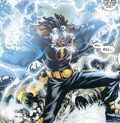 Who doesn't love Static, another DC comics character created by the late Dwayne McDuffie. Black Characters, Comic Book Characters, Comic Book Heroes, Comic Character, Static Dc, Black Lightning Static Shock, Top Superheroes, Cartoon Online, Hq Dc