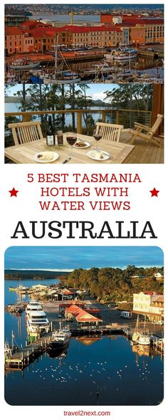 5 best Tasmania hotels with water views. Love a room with a view of the water? As the only Australian state entirely surrounded by water, Tasmania has lots to choose from.