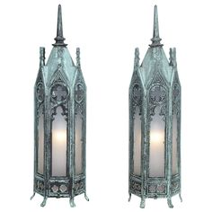 Bronze Gothic Lamps | From a unique collection of antique and modern table lamps at https://www.1stdibs.com/furniture/lighting/table-lamps/ 35