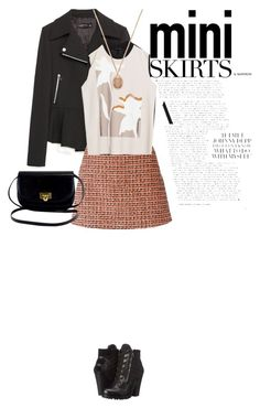 """Untitled #831"" by d-cuevas ❤ liked on Polyvore featuring Zara, dVb Victoria Beckham, GUESS, Forever 21 and MINISKIRT"