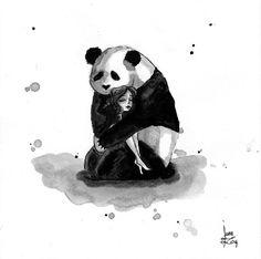 Pandamonium: I Draw Panda & Maiden Illustrations Using Indian Ink   Bored Panda