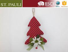 8 polegada borgonha pano branco polka dots mini forma árvore de natal feliz natal decoração itens com corda de juta