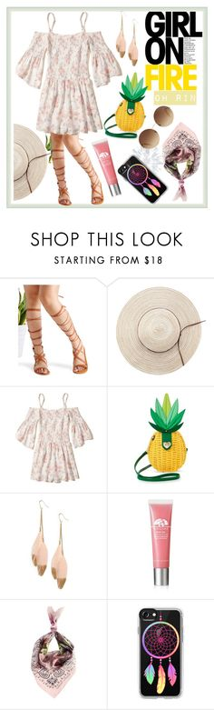 """boho tropical"" by rindularas on Polyvore featuring WithChic, Hollister Co., Betsey Johnson, Panacea, Origins, Ternary London, Casetify and Victoria Beckham"