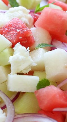 Watermelon, Jicama and Cucumber Salad