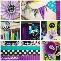 purple paisley collage