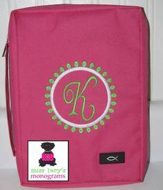 our Bible covers   www.misslucysmonograms.com