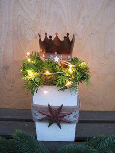 Deko-Objekte - ♥♥ XL shabby Kronen Windlichtsockel, Landhaus ♥♥ - ein Designerstück von Sternenglanz-Clemens bei DaWanda