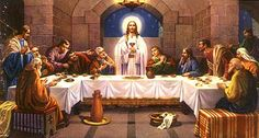 All of the selected 12 Apostles except St. John was tortured to death very cruelly for not denying Faith in Jesus. Jesus Last Supper, Lords Supper, Jesus Painting, Religious Pictures, Biblical Art, Holy Week, Jesus Is Lord, God, Bible Stories