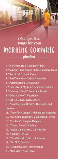 Is your #morning commute getting you down? No worries! This #playlist will make it a little better. #work