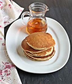 Versatile Vegetarian Kitchen: Overnight Whole Wheat Yeast Pancakes
