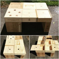 Wine crate coffee table DIY project