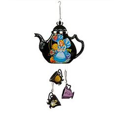 Disney Alice in Wonderland Wind Chimes Set | Disney StoreAlice in Wonderland Wind Chimes Set - Hear the tinkling, merry tune of a mad tea party every time the breeze blows by. This fine porcelain wind chimes set in the form of a tea pot, cups, and spoons is decorated with a Wonderland of memorable characters.