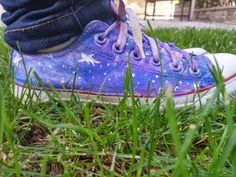 I Need More Space - Converse Yenileme - piece of cake - DIY Converse - Galaxy Shoes