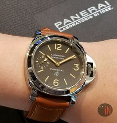 """Let's Puff On This!"" Officine #Panerai 44mm Luminor Marina Tobacco Dial Logo Boutique LTD  Ref#: PAM 632 * CALL or EMAIL for INQUIRIES! http://www.elementintime.com/product_center.aspx?page=all&CurrentSort=new-arrivals&CurrentBrand=&CurrentModel=&CurrentSubModel=&CurrentMetal=&CurrentFuctions=&CurrentCondition=&CurrentGender=&IsSoldOut=&dept_id=1015"